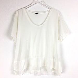 J Crew Short Sleeve Ruffle Shirt Blouse